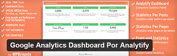 Google Analytics Dashboard Por Analytify