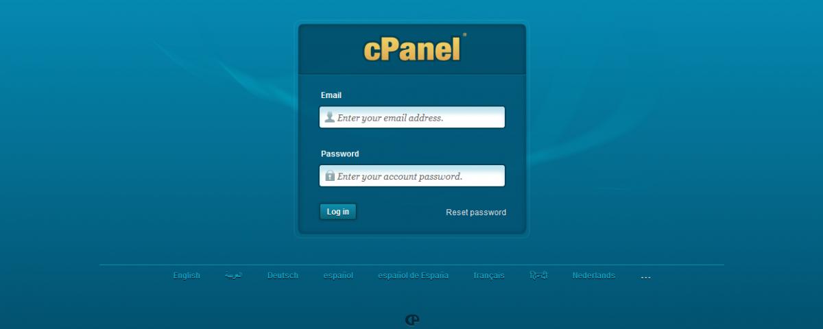 cPanel para hosting-hostname